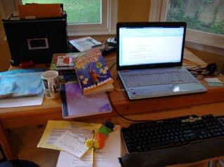 Mary Amato's desk