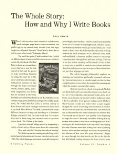 The Whole Story: How and Why I Write Books
