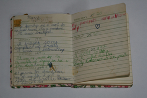 This is one of my first diaries. I have kept a diary on and off since the age of seven.
